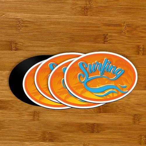 Surfing Custom Oval Magnet