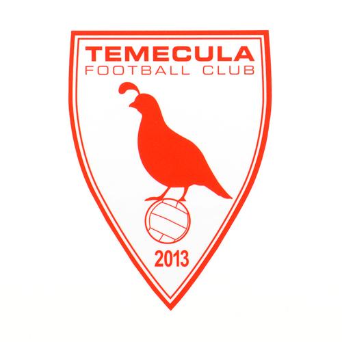 Temecula Football Club Custom Die Cut Stickers