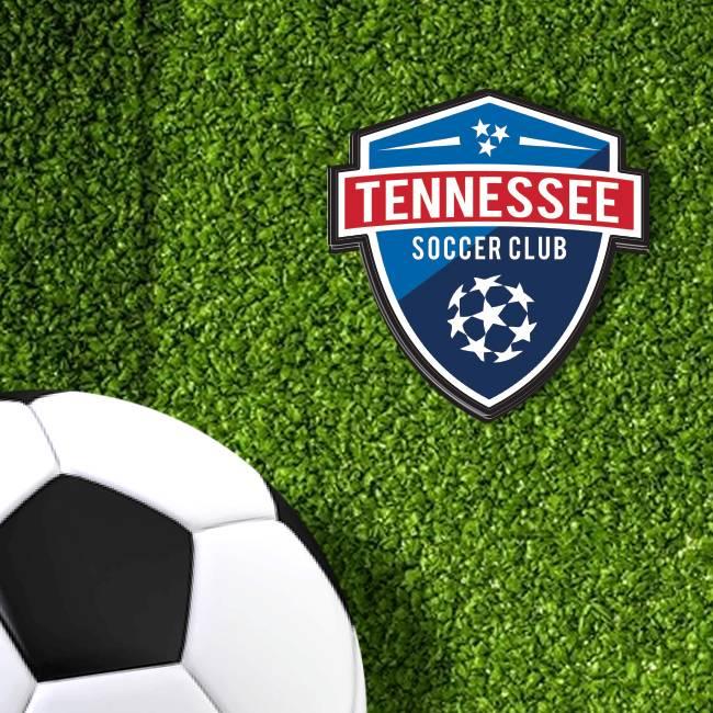 Tennessee Soccer Club Die-Cut Stickers