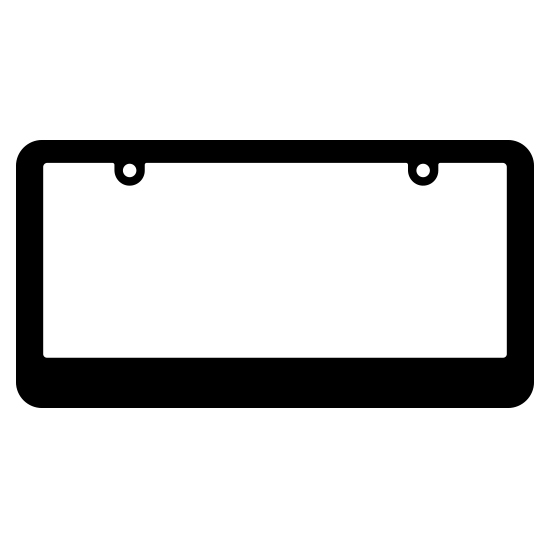 Blank Thin Top Thick Bottom Black Plastic Frame