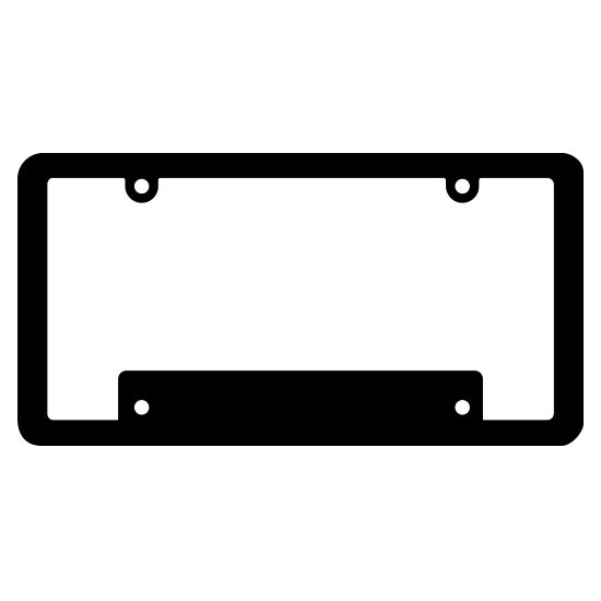 Blank Thin Top Wide Bottom Black Plastic Frame