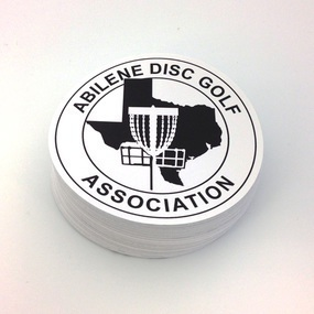 Abilene Disc Golf Association Custom Circle Stickers