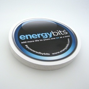 Energy Bits Custom Circle Stickers