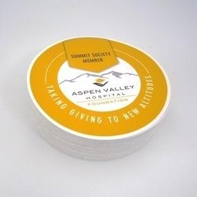 Aspen Valley Hospital Custom Circle Stickers