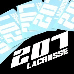 207 Lacrosse Custom Cut Out Stickers