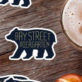 Bay Street Biergarten Die Cut Stickers