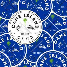 Cane Island Club Circle Stickers