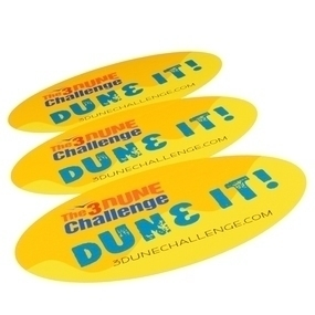 3 Dune Challenge Custom Oval Stickers
