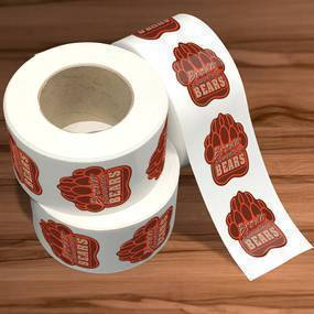 Brown Bear Die Cut Sticker Rolls