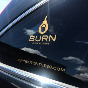 Burn Fitness Transfer Sticker Sheet