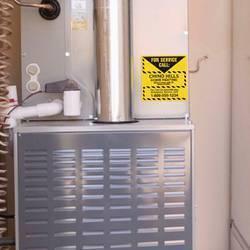 Heating Service Permanent Sticker