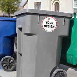 Permanent Adhesive Trash Can