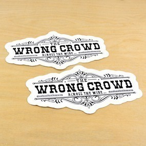 Across The Wide Custom Die Cut Stickers