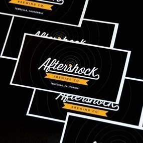 Aftershock Brewery Rectangle Bumper Sticker