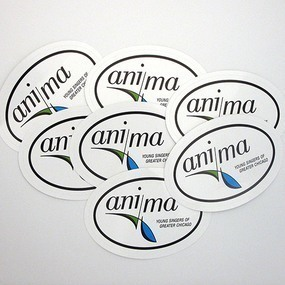 Anima Custom Oval Stickers