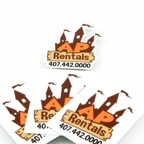 AP Rentals Custom Die Cut Stickers