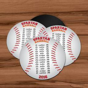 Sports Schedule Custom Circle Magnet