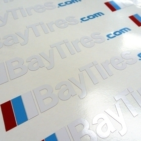 Bay Tires Custom Multi-Color Cut-Out Stickers