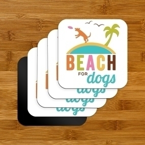 Beach For Dogs Rounded Corners Magnet