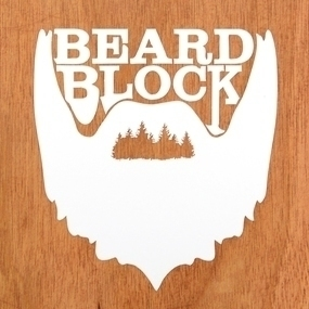 Beard Block Custom Cut-Out Stickers