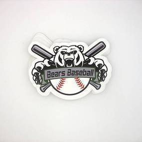 Bears Baseball Custom Die Cut Stickers