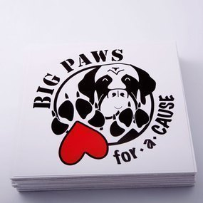 Big Paws For A Cause Custom Rectangle Stickers
