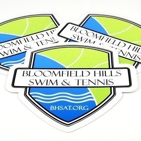 Bloomfield Hills Swim & Tennis Custom Die Cut Stickers