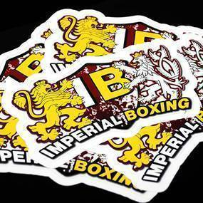 Imperial Boxing Die Cut Sticker
