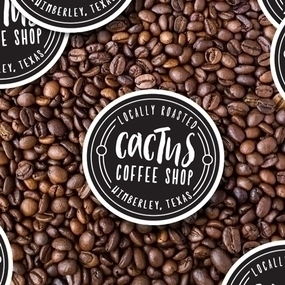 Cactus Coffee Custom Circle Stickers