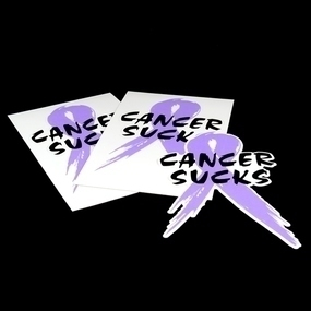 Cancer Sucks Custom Die Cut Stickers