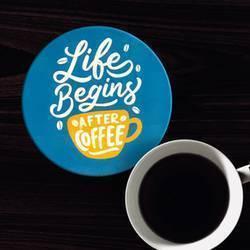 Circle Coaster Coffee