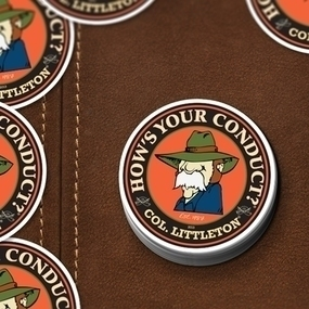 Colonel Littleton Custom Circle Stickers