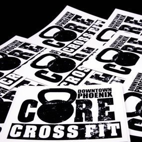 Core Crossfit Custom Rectangle Stickers