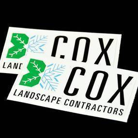 COX Landscape Contractors Rounded Rectangle Sticker
