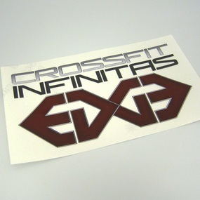 Crossfit Infinitas Custom Multi-Color Cut-Out Sticker