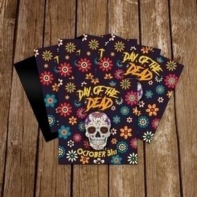 Day of the Dead Custom Square Magnet