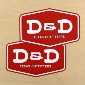 D&D Texas Outfitters Custom Die Cut Stickers