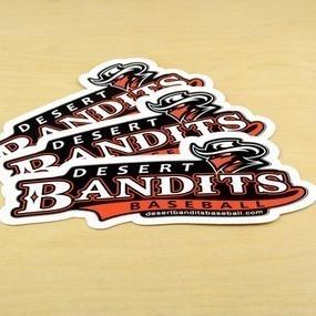 Desert Bandits Baseball Custom Die Cut Stickers