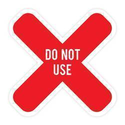 Do Not Use X 3