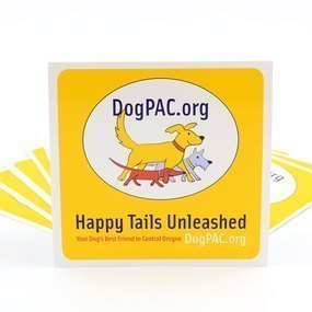 DogPAC.org Custom Rounded Rectangle Stickers
