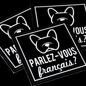 French Bulldog Square Sticker