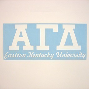 Eastern Kentucky University Custom Greek Letters Sticker