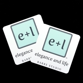 Elegance + Life Custom Rectangle Stickers