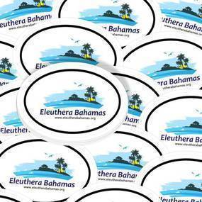 Eleuthera, Bahamas Custom Oval Sticker