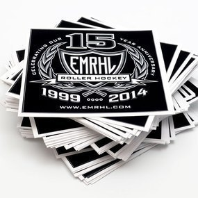 EMRHL Roller Hockey Custom Rectangle Stickers