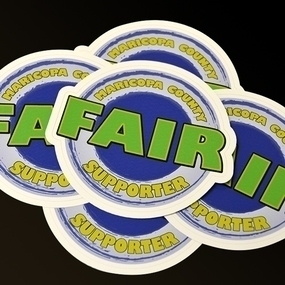 Fair Supporter Die Cut Stickers with Border
