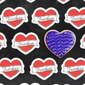 Fearless Baking Die Cut Stickers