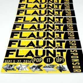 Flaunt Pop It Up Sponsor Custom Rectangle Stickers