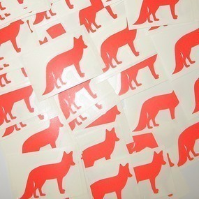 Fox Cut-Out Sticker