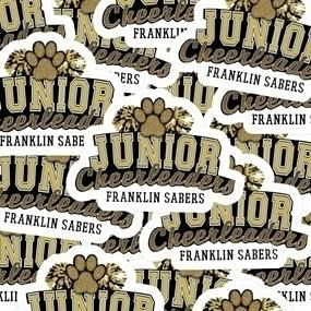 Franklin Saber Cheerleaders Custom Die Cut Stickers